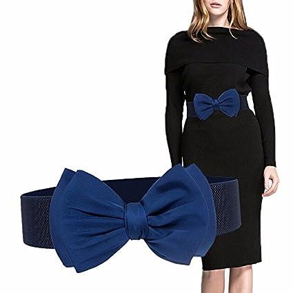 QIER-YD Cinturón para Mujer Elegante Vestido de Arco Decoración Cinturón  Ancho Cinturón de Gasa Cinturón elástico Carmesí  Amazon.es  Deportes y  aire libre 055404cbde19