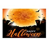 Willsa Halloween Backdrops 5x3FT Lantern Background Photography Studio Decoration