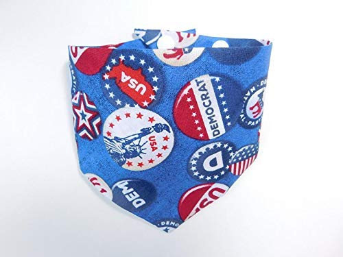 Amazon.com: Democratic Party Patriotic Dog Bandana - Whoa ...