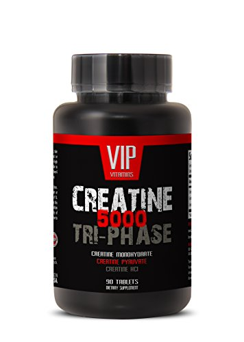 Bodybuilding supplements for men - CREATINE TRI-PHASE - CREATINE 3X - Creatine monohydrate - Creatine pills for men - 1 Bottle 90 Tablets