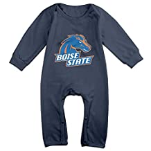 Ellem Cute Boise State Broncos Football Climbing Clothes For Newborn Baby Navy