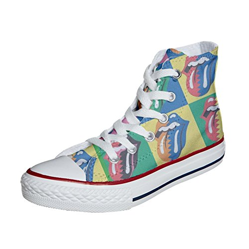 Rolling Stones Star Handmade Personalizados Producto Zapatos Converse All Unisex wx0qFnfOZW