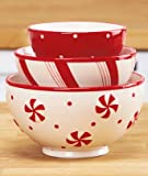 Holiday Serving Bowl Set - Set Of 3