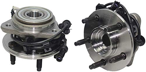 Detroit Axle - Brand New 4x4 Front Wheel Hub and Bearing Assembly w/Round ABS Wire 4x4 [5-LUG] for 1995-01 Ford Explorer 4x4 - [1997-2001 Mountaineer 4x4] - 01-09 Ranger 4x4-01-09 B4000 4x4