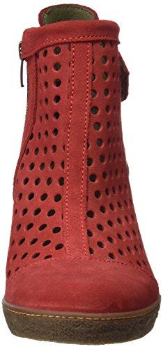 El Naturalista Nf77 Lux Suede Pleasant Lichen, Botines para Mujer Rojo (Tibet)