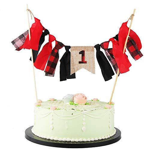 LVEUD Lumberjack Birthday Party Ideas - Red Burlap Series 1