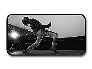 Accessories Freddie Mercury Queen Singing Black & White case For Samsung Galaxy S6 Case Cover