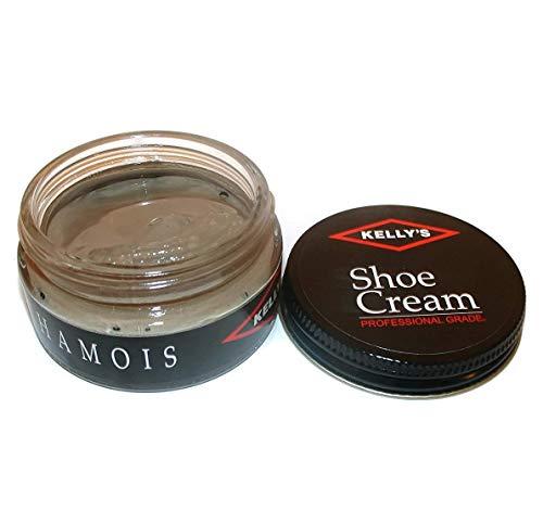 Kelly's Shoe Cream - Professional Shoe Polish - 1.5 oz - Chamois