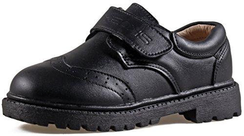 SKOEX Kid's Boy's School Uniform Oxford Dress Shoe (Toddler/Little Kid/Big Kid) US Size 10 Black
