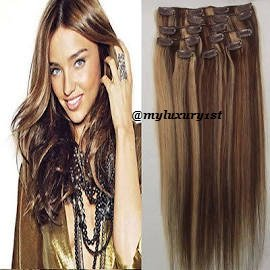 Clip in hair extensions brown with blonde highlights trendy clip in hair extensions brown with blonde highlights pmusecretfo Gallery