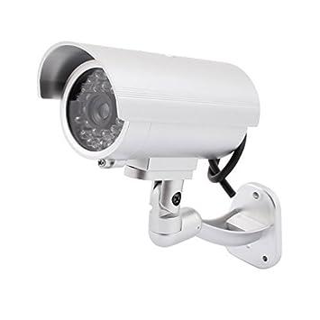 Falso eDealMax luz que destella de la cámara de seguridad simuladas de la vigilancia del CCTV LED infrarrojo - - Amazon.com