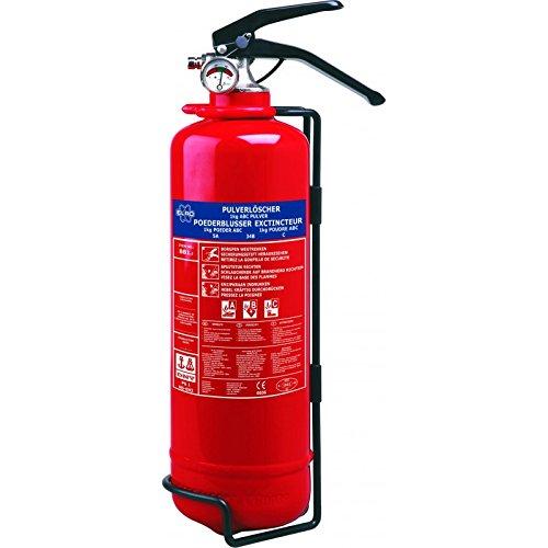 Smartwares BB1E Extintor de Polvo seco con Resistencia al Fuego, Rojo, 1 kg 10.029.84 (BB1E)