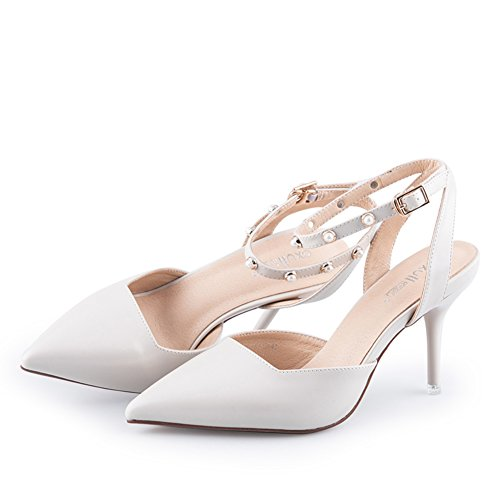 Des Pointu Talon Women's Chaussures B Sandales à Mot D'automne Shoes Minces Avec qxCw46A