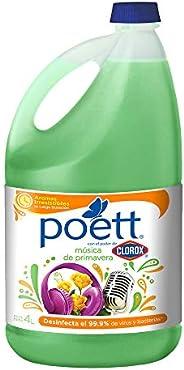 Poett Limpiador Desinfectante De Pisos Aroma Musica En Primavera, color, 4 L, pack of/paquete de