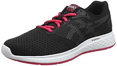 Asics Womens Patriot 10 Road Running Shoes, Black (Black/Pixel Pink),6 US,37 EU