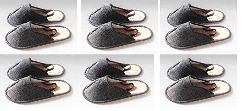 Exklusiv-Heimtextil Professional Museum Slippers, Slippers, Overshoes With Elastic Heel 6Pairs