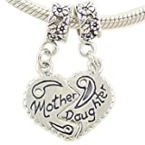 Mother Daughter Bead Charms Compatible with European Bracelet image