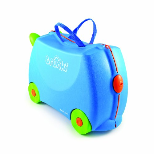 Trunki Original Kids Ride-On Suitcase and Carry-On - Terrance (Blue) by Trunki (Image #6)