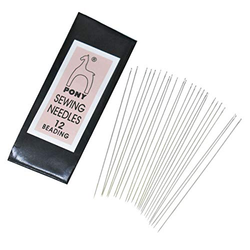 (Embroiderymaterial Pony Beading Needles for Craft, Beading and Embroidery 1 Packet (25 Needles, Size12))