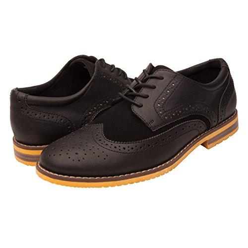 GlobalWin Mens Black Brogue Oxford Shoes 10M, BLACK