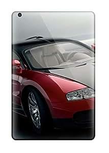 Marc Stanley Premium Protective Hard Case For Ipad Mini/mini 2- Nice Design - Bugatti Veyron Red Black Front Cars Other