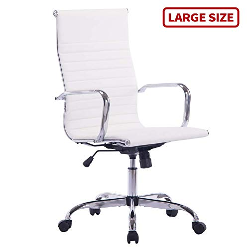Sidanli White Desk Chair, High Back Executive Office Chair