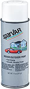 SparVar S101 Flat White Automotive and General Purpose Paint - 11 oz.