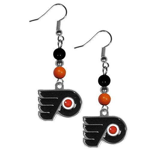 - NHL Philadelphia Flyers Fan Bead Dangle Earrings