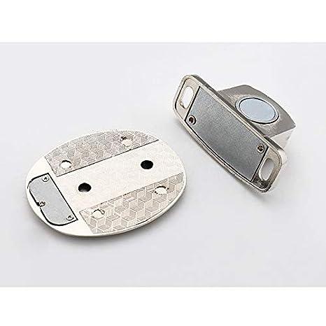 fermaporta per casa Argento Anti-collisione Invisibile Adesivo da Pavimento fermaporta Magnetico in Acciaio Inox Fnsky