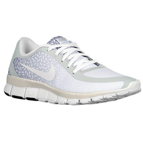 210d75a863a3 Galleon - Nike Free 5.0 V4 (Pure Platinum White White) Womens Shoes (Pure  Platinum White White)