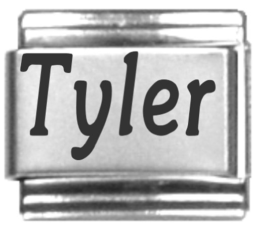 Tyler Laser Name Italian Charm Link