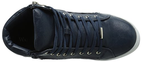 Wanted Shoes Womens Perry Fashion Sneaker Navy F0hfny