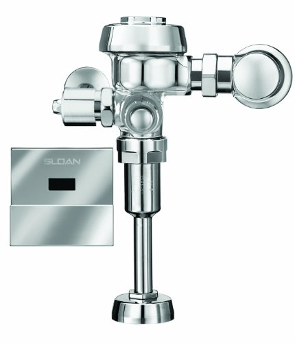Sloan Valve ROYAL 186-1 ES-S Royal Optima Exposed Sensor Activated 1.0 GPF Urinal Flushometer for 3/4-Inch Top Spud Urinals, Chrome by Sloan Valve