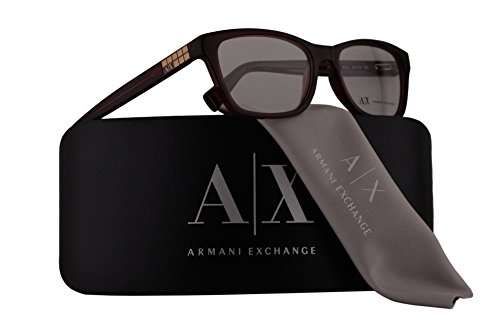 Armani Exchange AX3006 Eyeglasses 52-16-135 Berry Transparent w/Demo Clear Lens 8003 AX - Wearing Beckham Glasses David