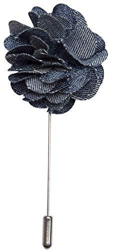 Alfinete de lapela azul escuro em formato de crisântemo