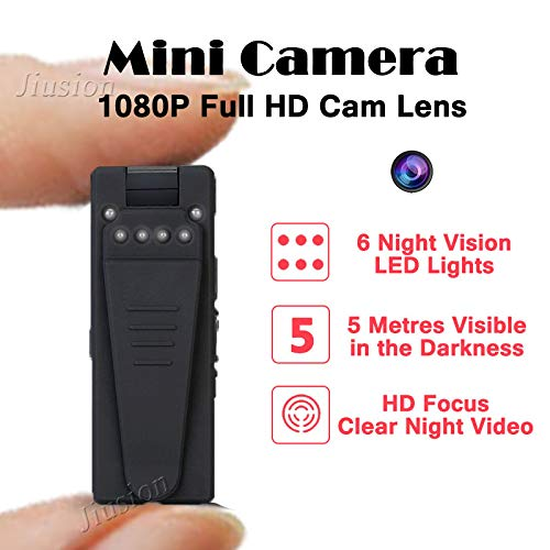 Amazon.com : 2018 fire Mini Camera 1080p hd Camcorder 6 Night Vision Lights Motion Sensor Webcam dv dvr Video Audio Recorder Sport Micro cam : Camera & ...