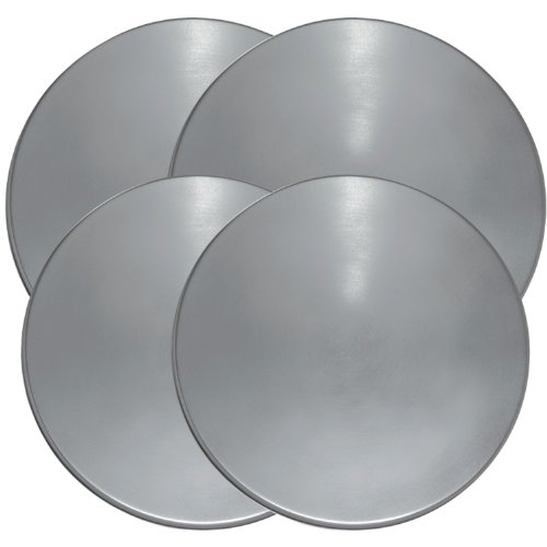 Range Kleen 550 Stainless Steel Round Burner Kovers, Set of 4