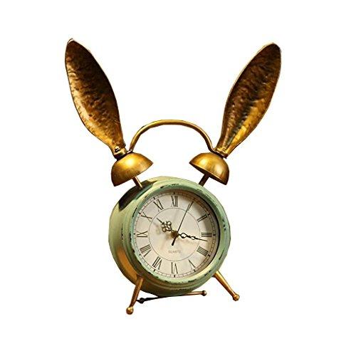 ZAZAZA Health UK Clock- Clock Iron Vintage 6-Inch Single-Sided Modern Mute Romantic Classical Sitting Bell Welcome by ZAZAZA
