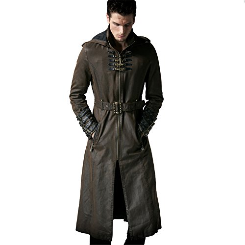 Men Leather Trench - 7