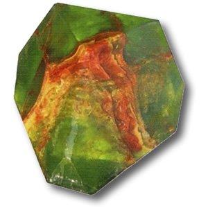 [Green Garnet SoapRock - 6 oz] (Tsavorite Green Garnet)