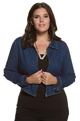 Womens Contrast Stitch Lightweight Jacket - Studio Untold Women's Plus Size On Trend Basic Denim Jacket Dark Blue 24 711728 93