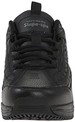 SKECHERS Pelle Sneakers Black BLK Uomo Black 77049 rq6Rr
