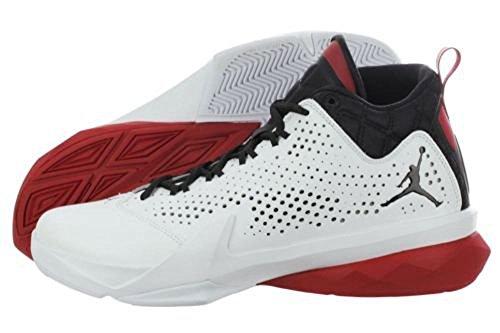 Nike-Jordan-Mens-Jordan-Flight-Time-145-WhiteBlackGym-Red-Basketball-Shoe-16-Men-US