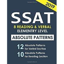 SSAT 8 Reading & Verbal Elementary Level: + 20 hidden rules in verbal