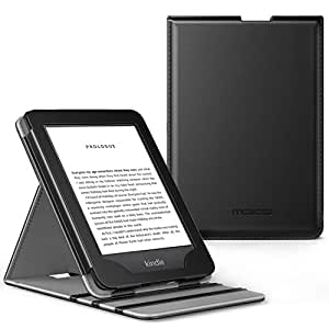 MoKo Case Fits All-New Amazon Kindle 10th Generation 2019 Release, Vertical Flip Smart Protective Cover with Auto Wake/Sleep, Not Fits Kindle Paperwhite - Black