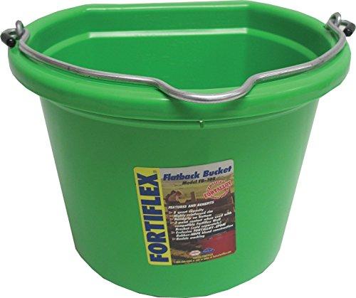- 8 Quart Flat Back Bucket - Green - 1301843 GREEN