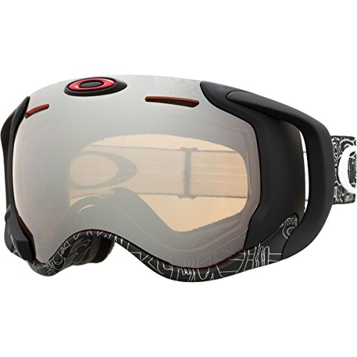 Oakley Airwave 1.5 Goggle Silvertext16 w/Black Irid-Apple, One - Oakley Z87
