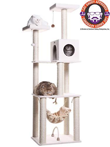 Armarkat Classic Deluxe Cat Tree Ivory/14 D x 27