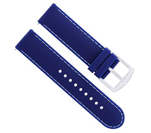Ewatchparts 22MM Soft Rubber Diver Band Strap for Croton Blue WS6P