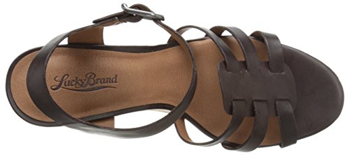 Lucky Brand Willows Pelle Sandalo con la Zeppa